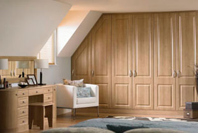 Wood and painted bedroom doors
